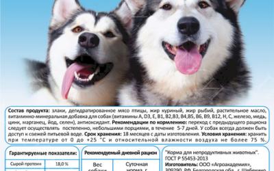 Большая миска - Корм для собак