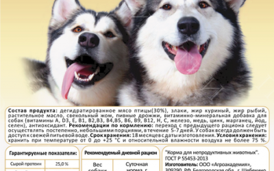 Этикетки для Большая миска - Корм для собак