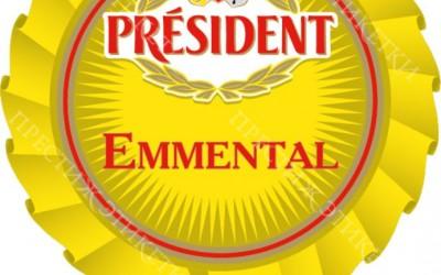 Самоклейка на Сыр - President Emmental
