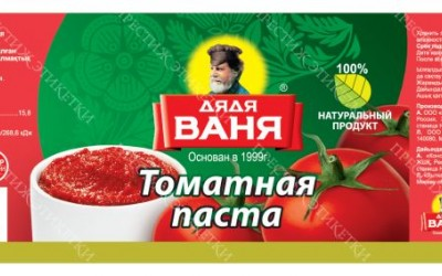 Самоклейка Дядя Ваня томатаня паста